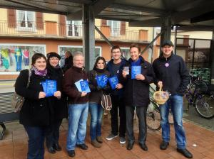 Les JLRN en campagne dans le district du Val-de-Travers – Cantonales 2013.